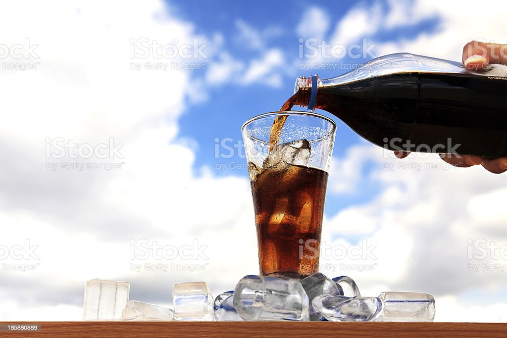 Cola drink - Royalty-free Blue Stock Photo