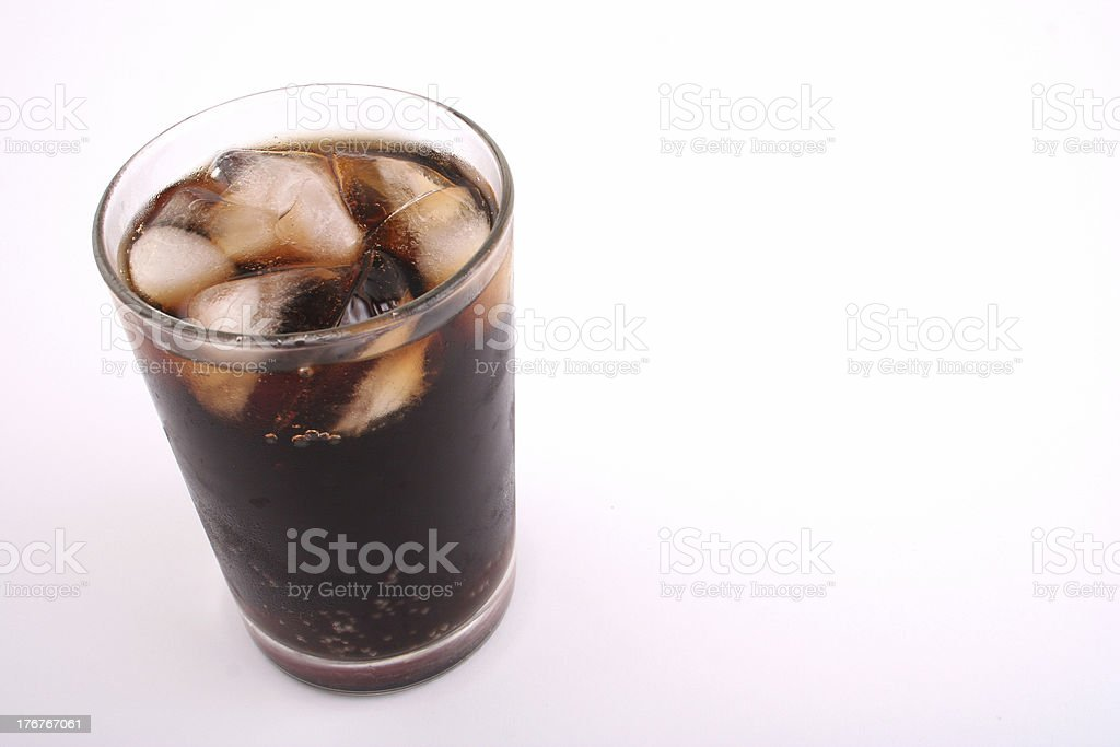 Cola in a Glass with text area royalty-free stock photo