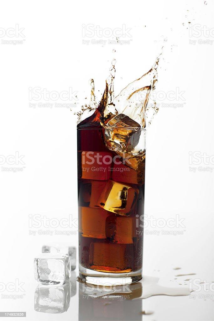 Cola splash royalty-free stock photo
