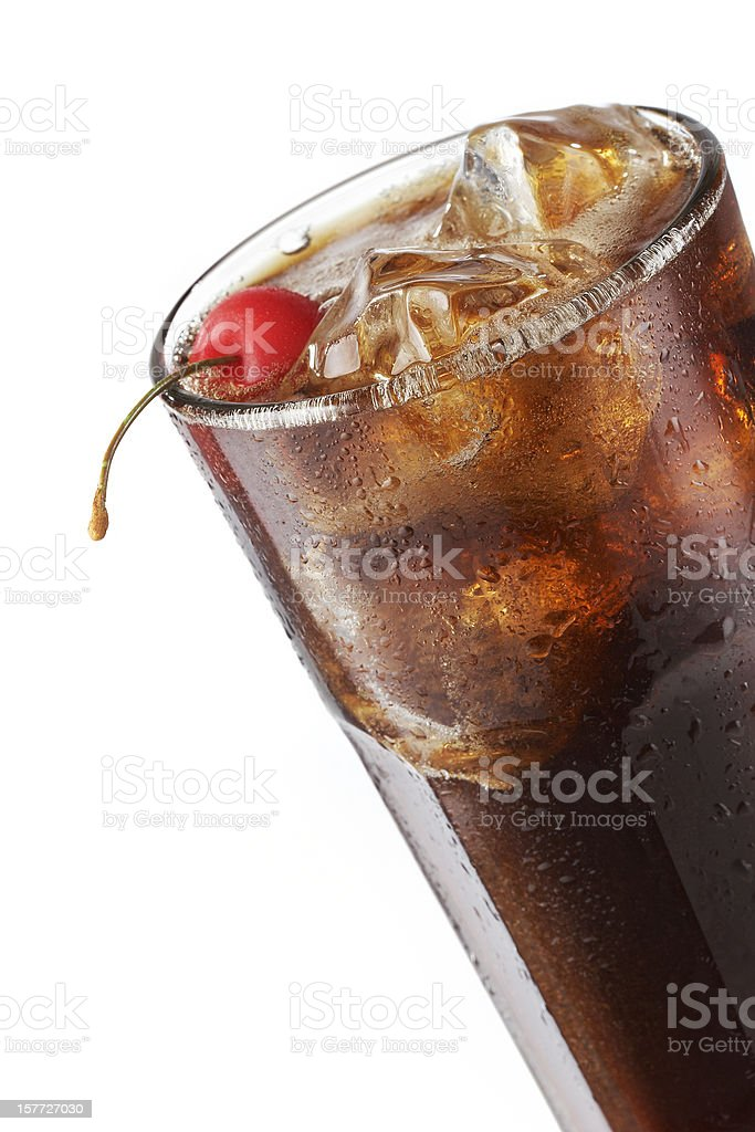 Cola with a Cherry royalty-free stock photo