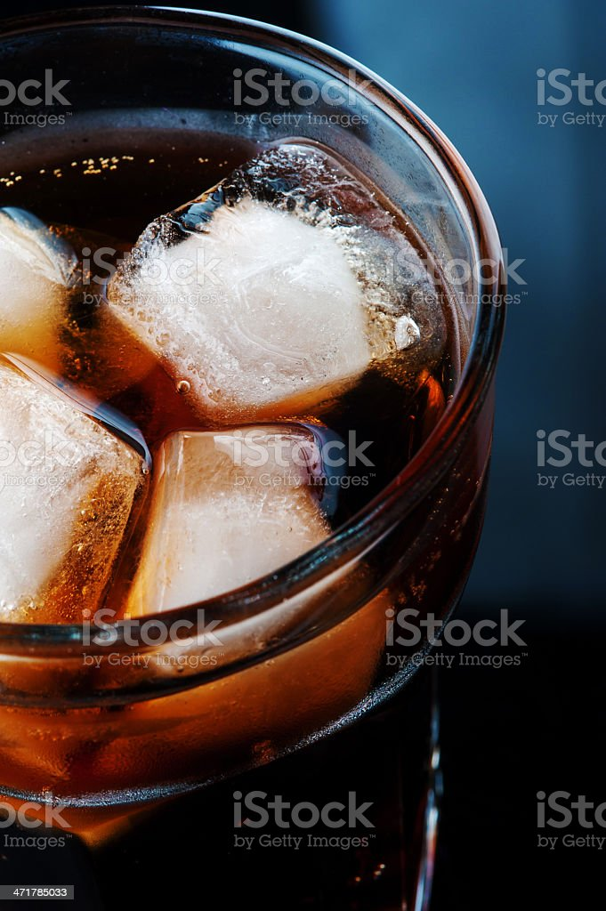 Cola with ice royalty-free stock photo