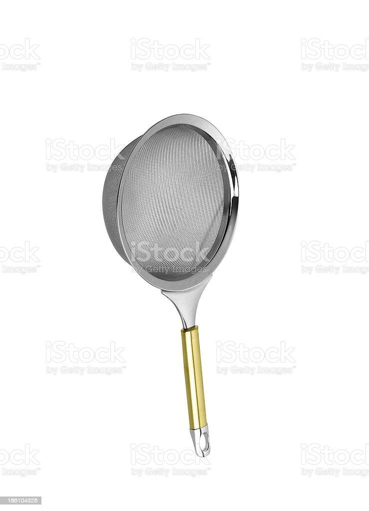 Colander isolated on white background royalty-free stock photo