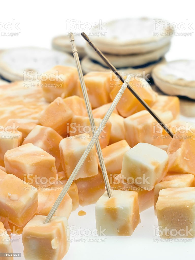 Colby jack cheese stock photo