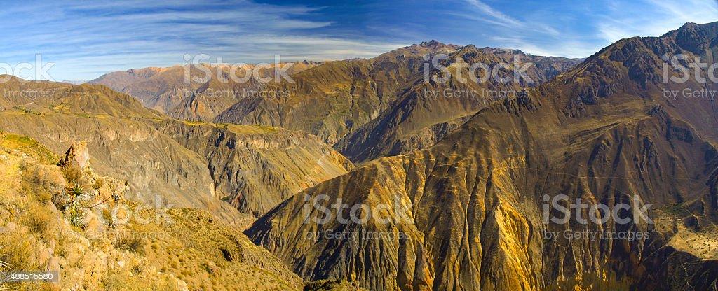 Colca Canyon panorama stock photo