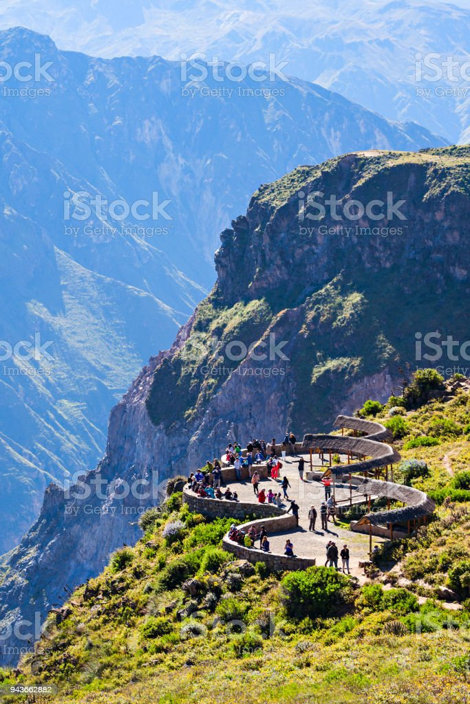 Colca canyon stock photo
