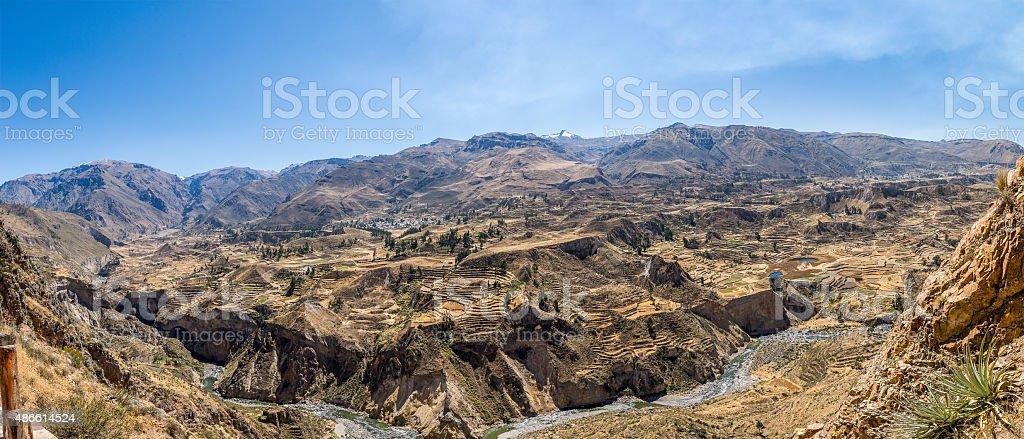 Colca valley stock photo