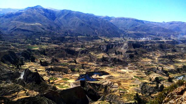 valle del colca stock photo