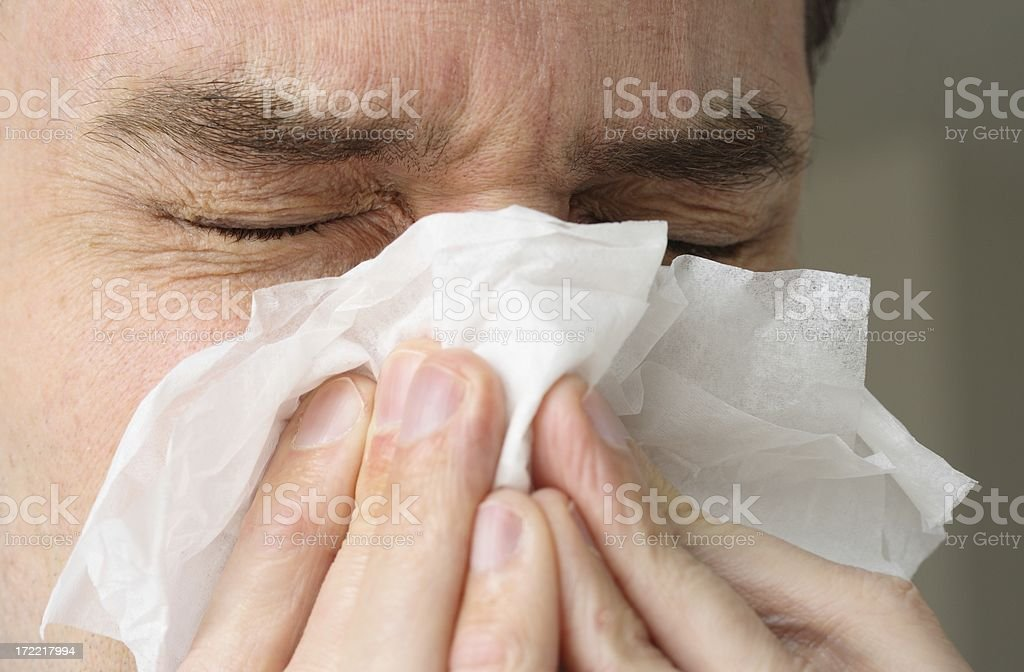 Cold, Allergy, Flu royalty-free stock photo