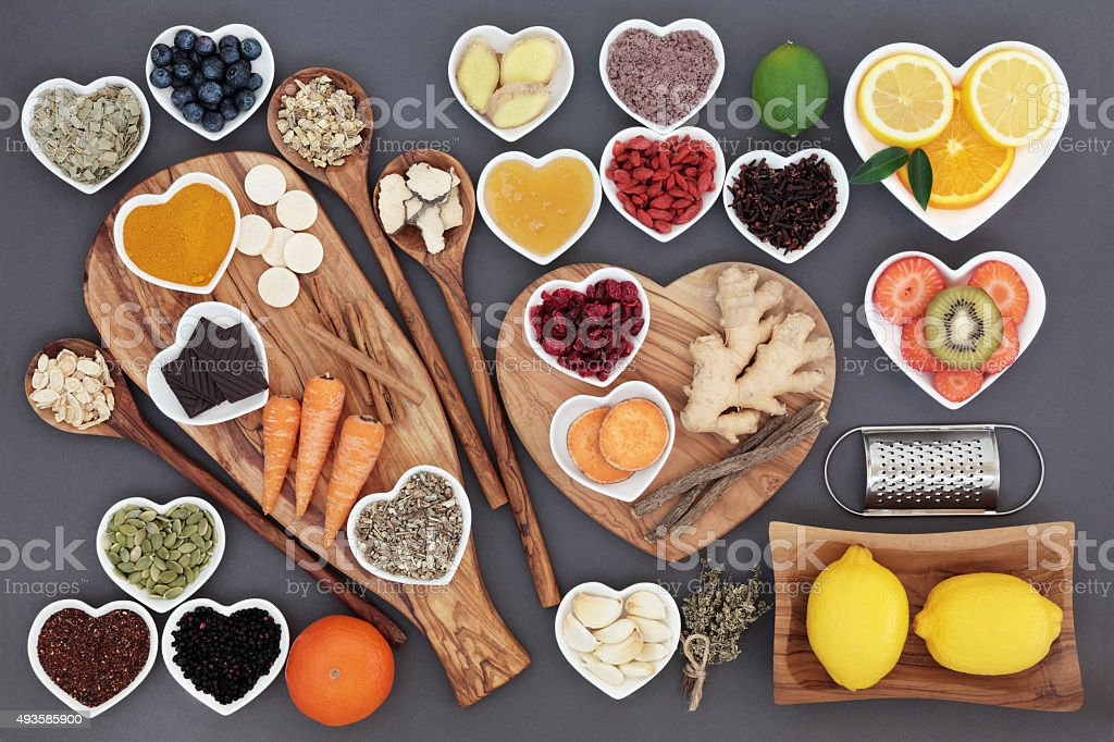 Cold and Flu Cure Food stock photo