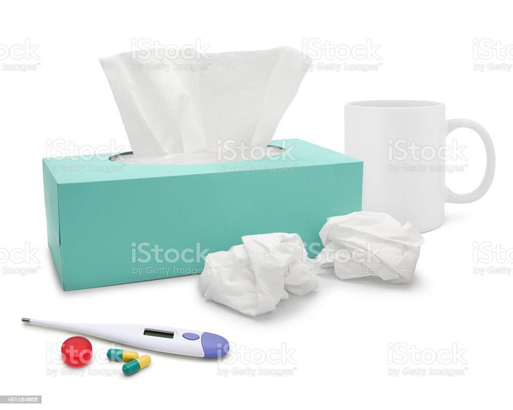 Resfriado y gripe tema - foto de stock