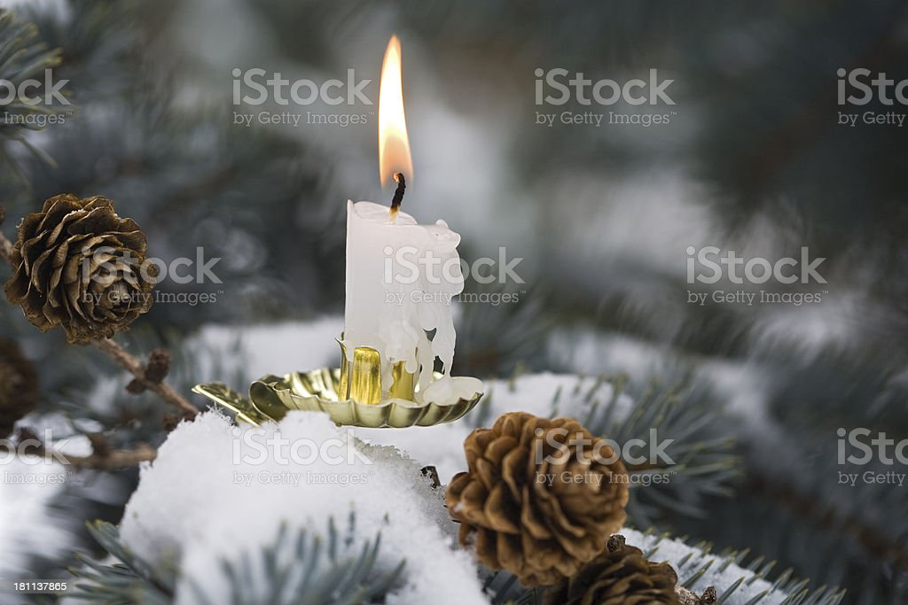 cold and hot at Christmas time royalty-free stock photo
