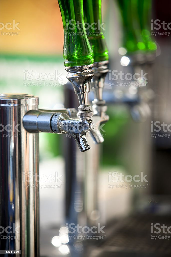 Cold beer draft on tap royalty-free stock photo