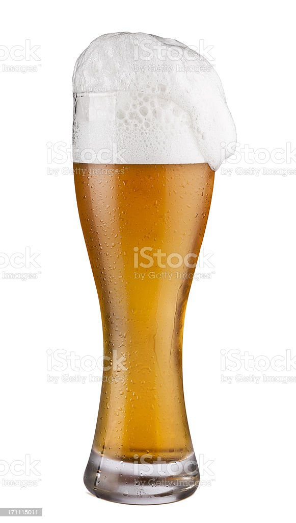 Cold Beer Glass isolated on white stock photo