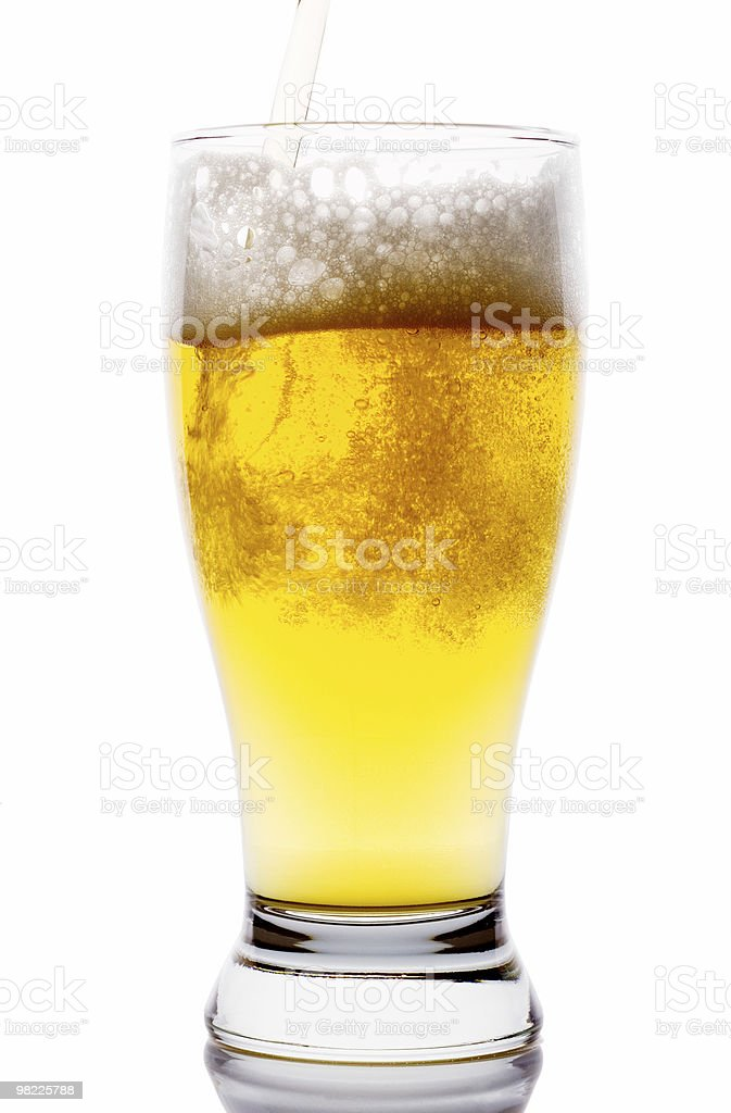 Cold beer on white background royalty-free stock photo