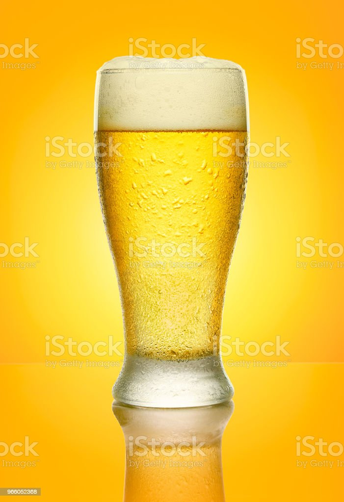 Koud biertje - Royalty-free Advertentie Stockfoto