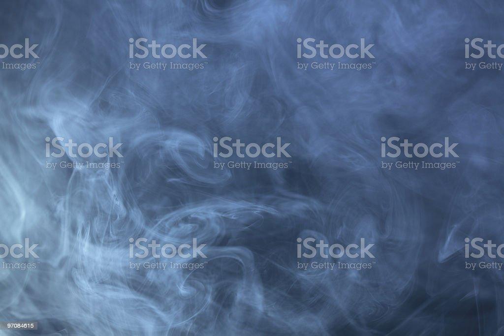 cold blue smoke royalty-free stock photo