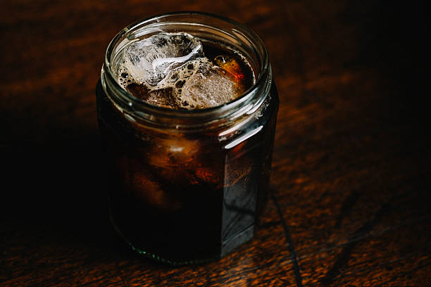 cold brew coffee - iced coffee stock photos and pictures