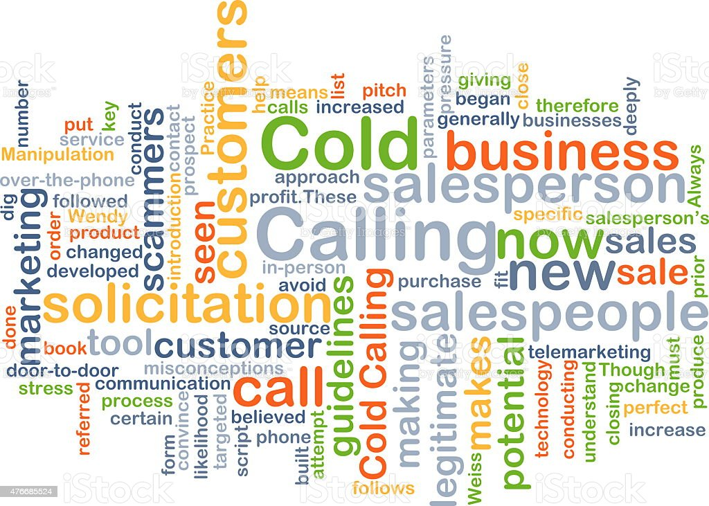 Cold calling background concept stock photo