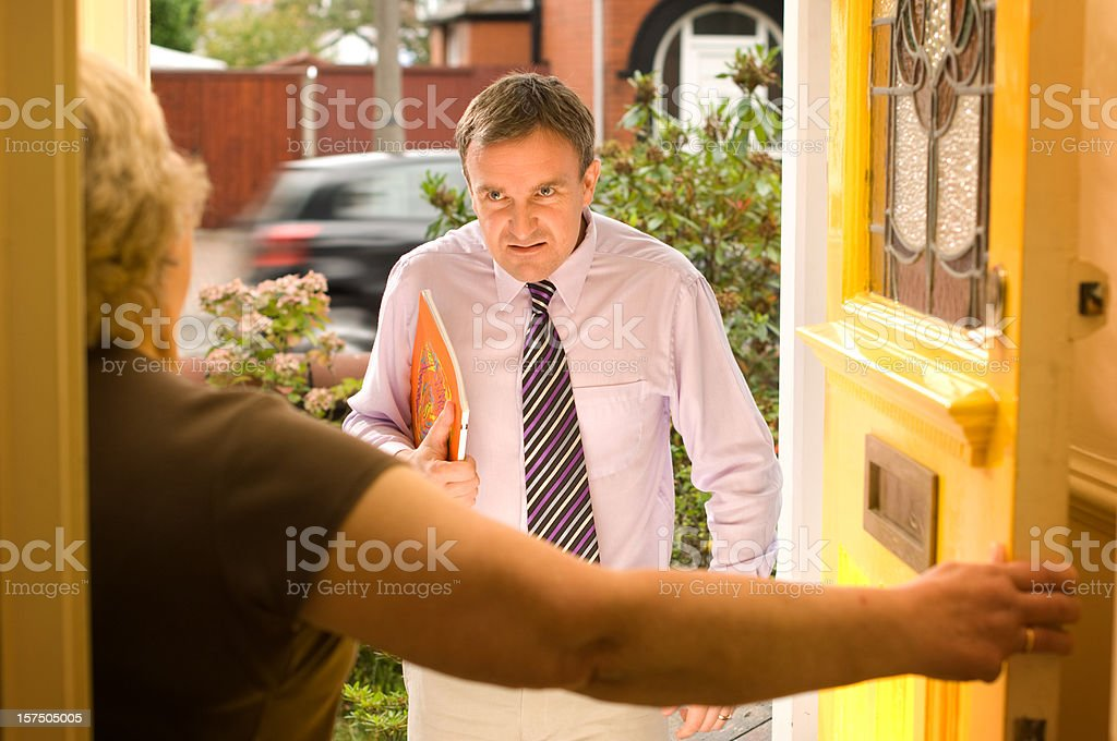 cold calling stock photo