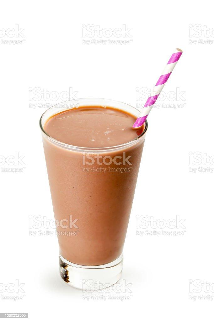 cold chocolate milk stock photo