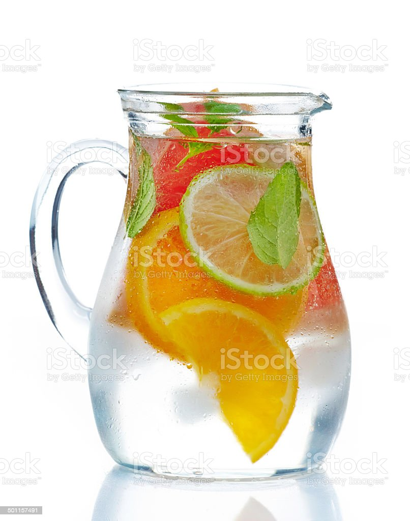 cold citrus fruit drink stock photo