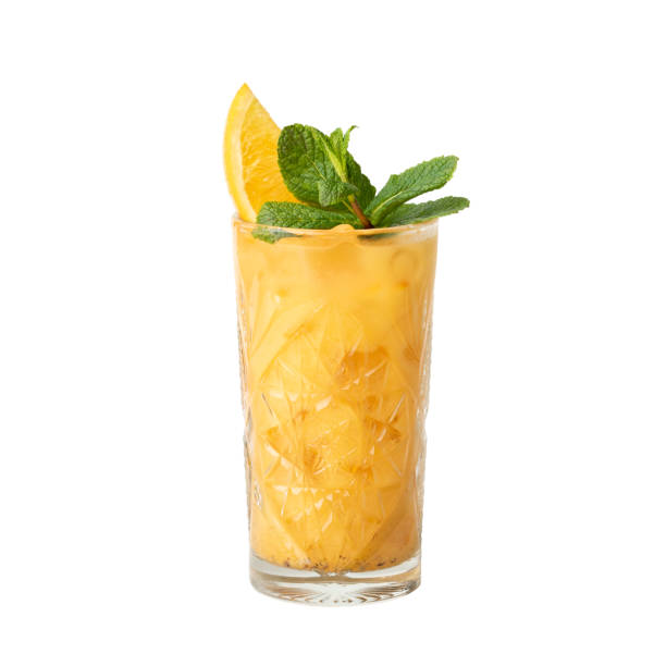 Cold cocktail drink isolation on a white stock photo