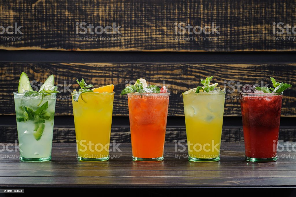 cold cocktails stock photo