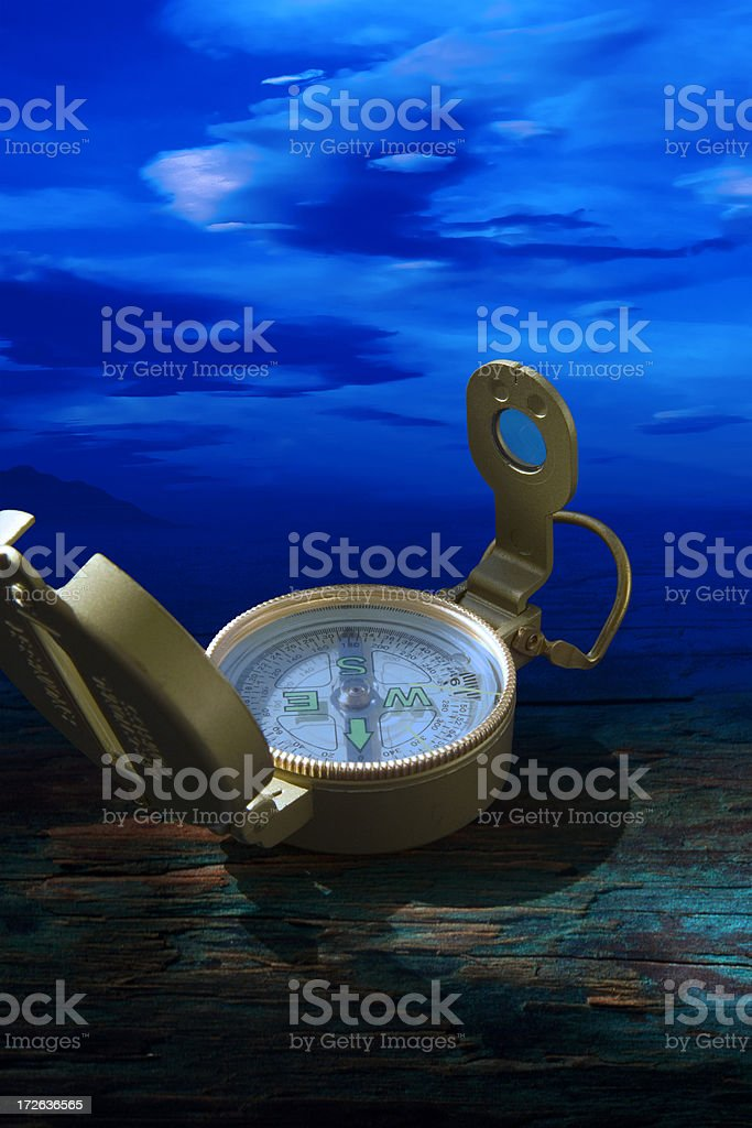 Cold compass stock photo
