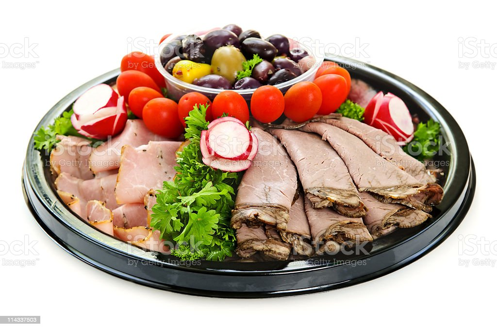 Cold cut platter royalty-free stock photo