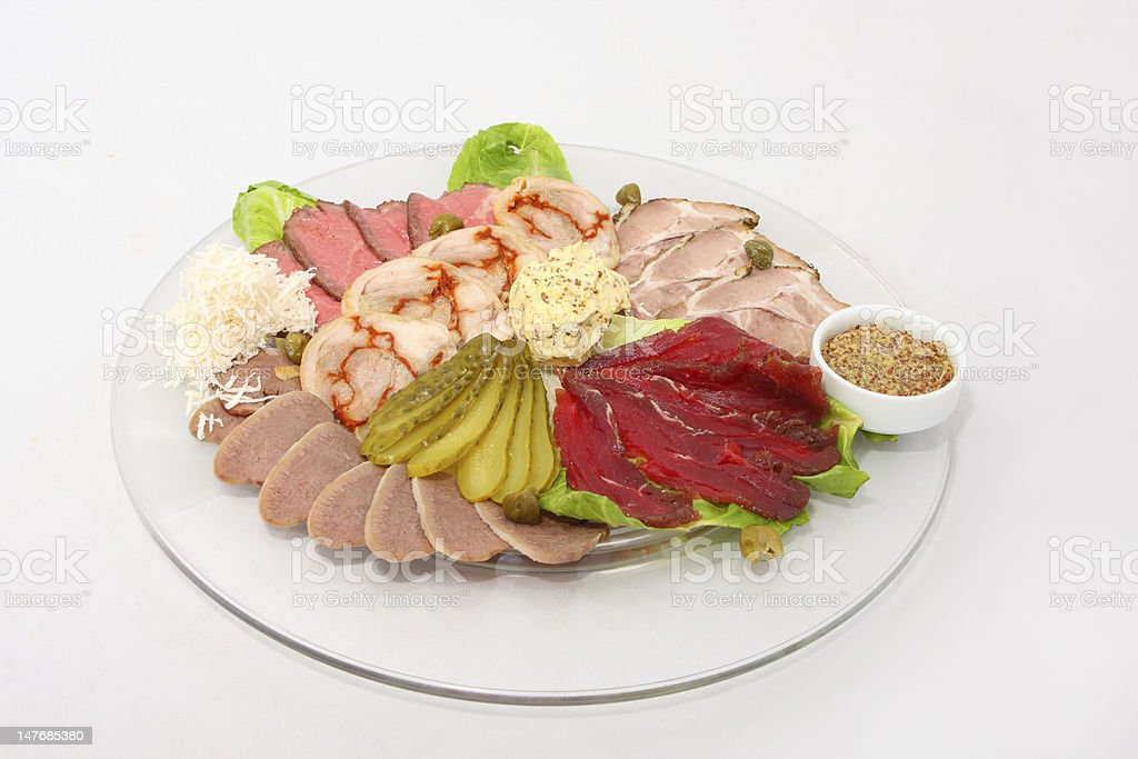 cold cut platter stock photo