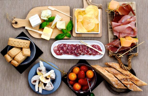 Cold Cuts and Delicious Snacks stock photo