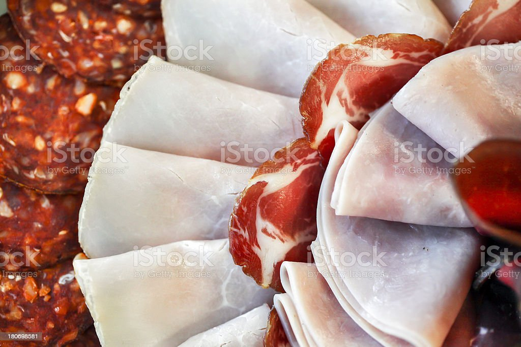 Cold cuts royalty-free stock photo
