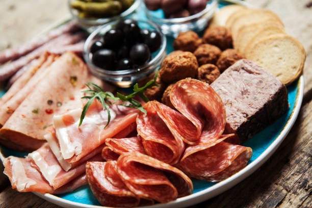 cold cuts - delis stock photos and pictures