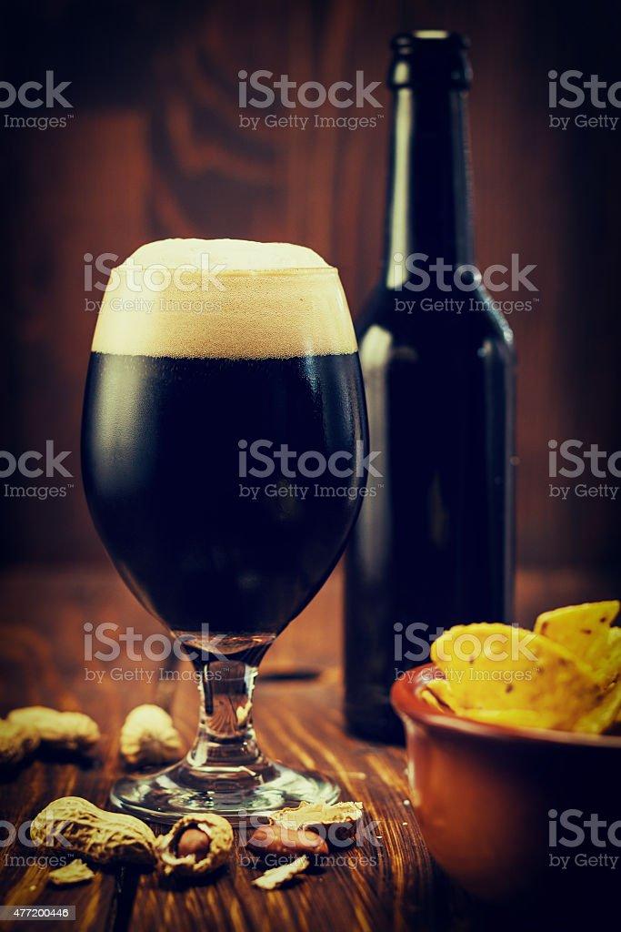Cold Dark Beer stock photo