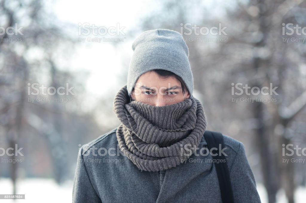 cold day stock photo