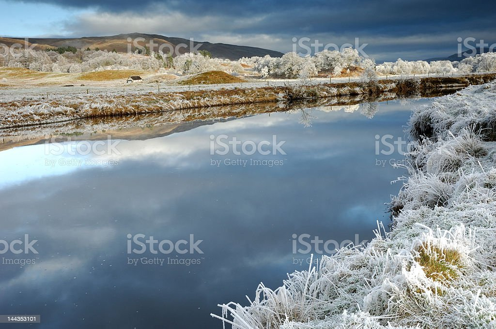 Cold December stock photo