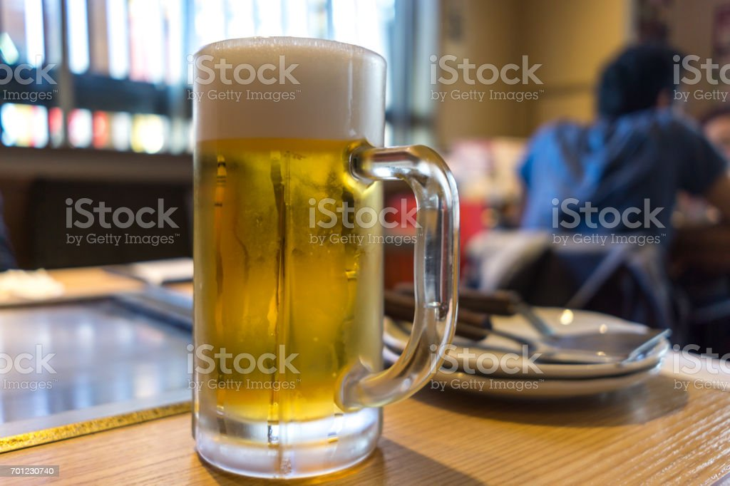 cold draft beer stock photo
