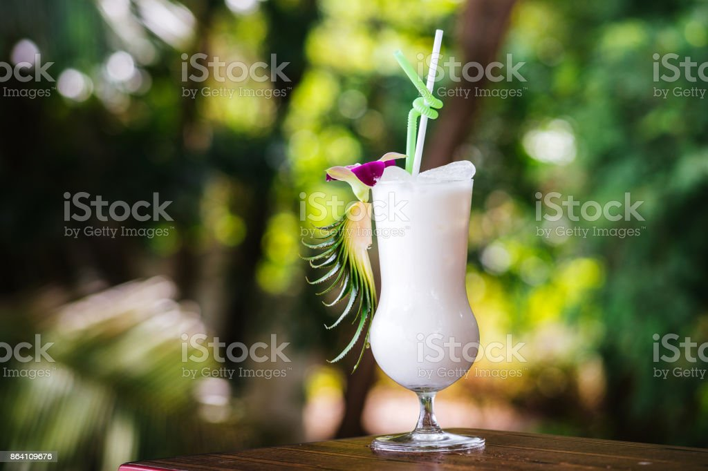 A cold drink in the tropics royalty-free stock photo