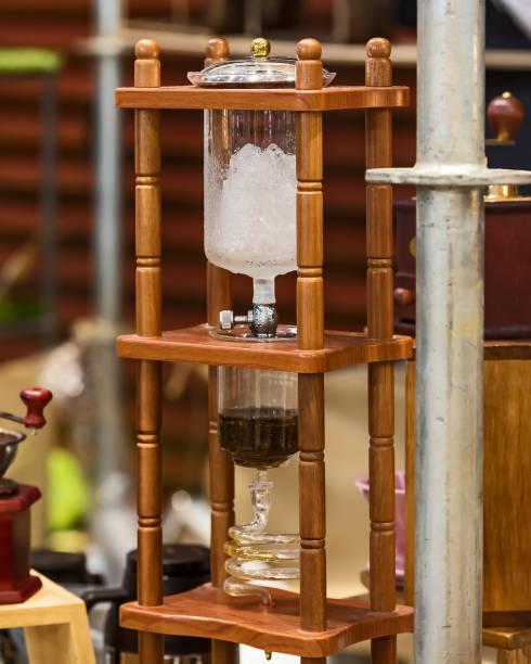 Cold drip coffee. stock photo