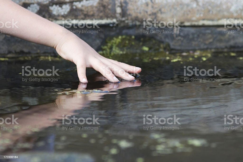 Cold fingers royalty-free stock photo