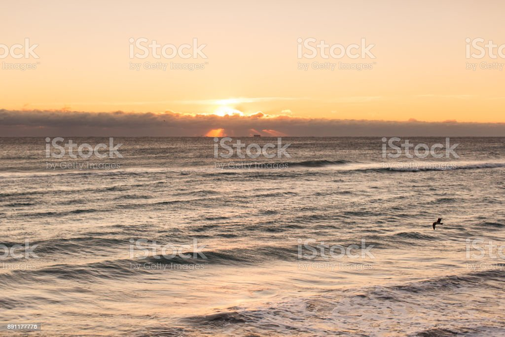 Cold Front Sunrise in Palm Beach stock photo