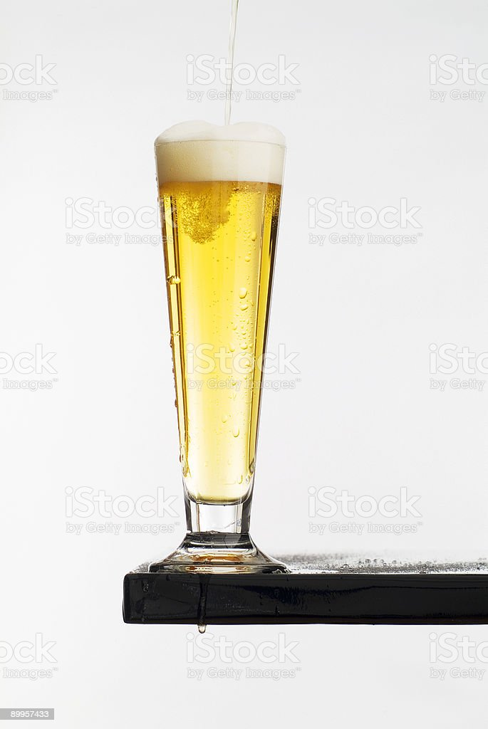 Cold Glass of Beer I royalty-free stock photo