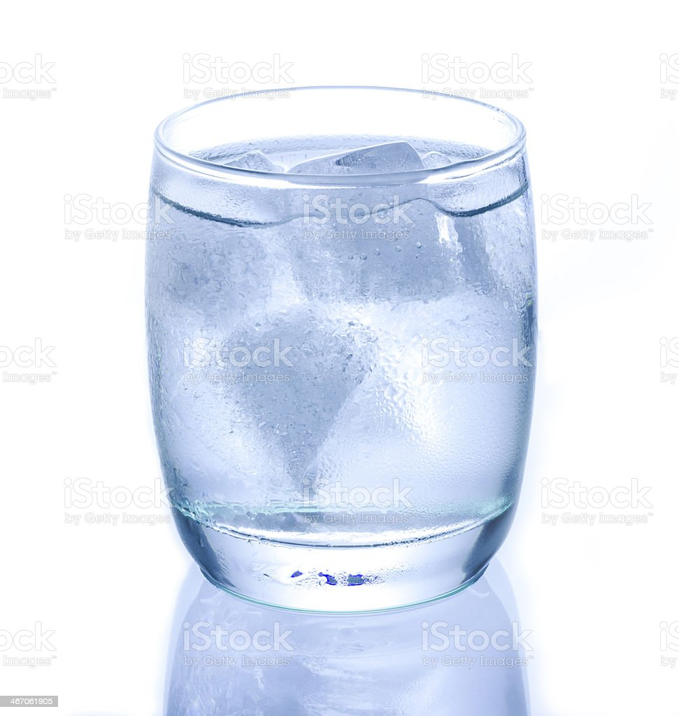 Cold Glass of Water with Condensation stock photo