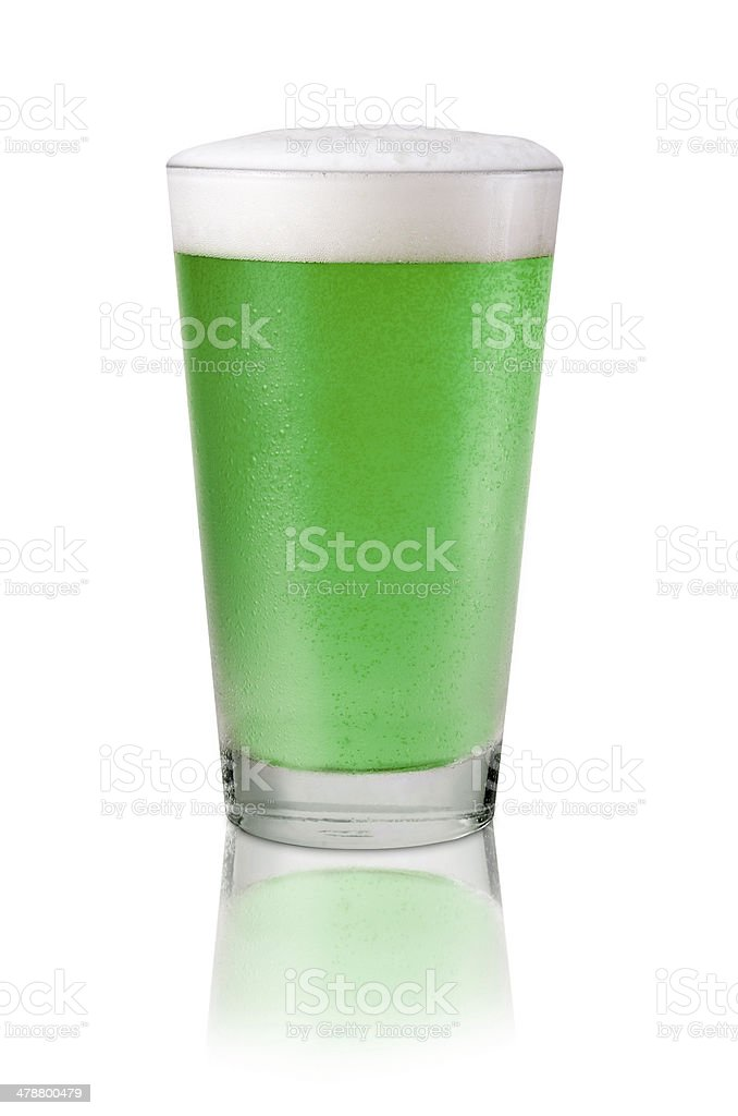 Cold Green Beer stock photo