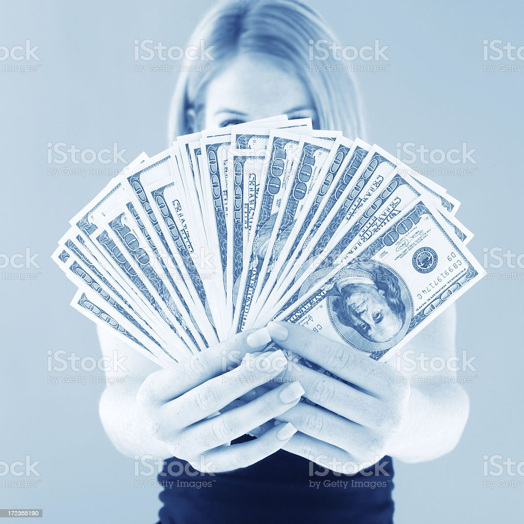Cold Hard Cash royalty-free stock photo