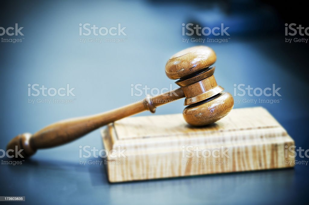 Cold Hard Justice stock photo