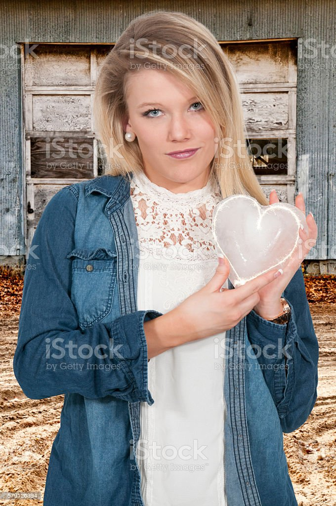 Cold Hearted Woman stock photo