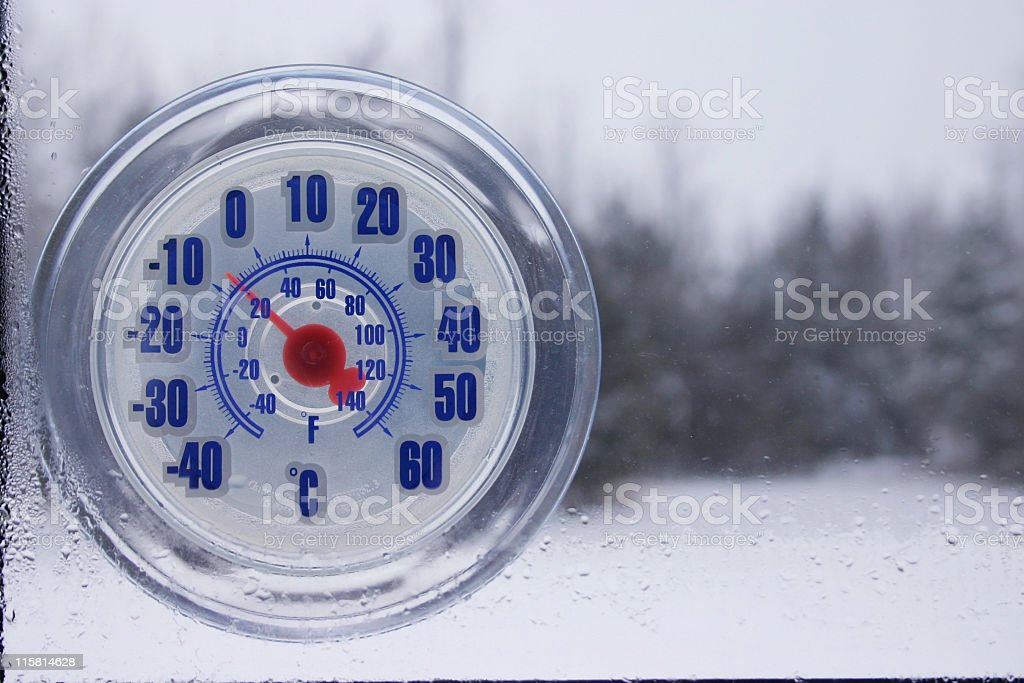 Cold in the winter royalty-free stock photo