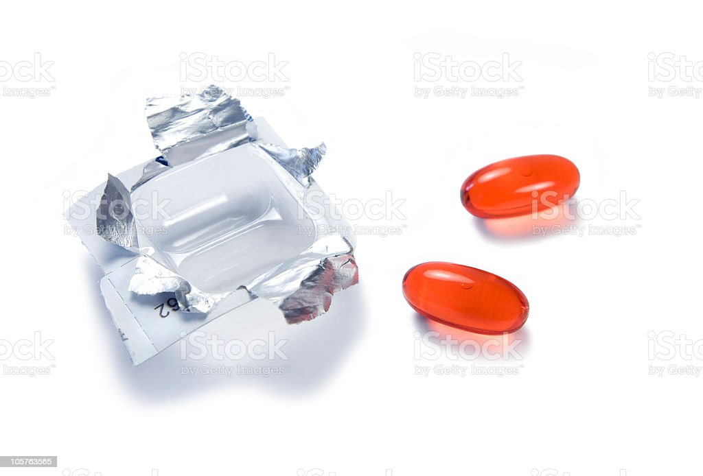 Cold medicine stock photo