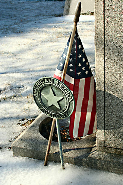 Kalte memorial, einem veteran – Foto